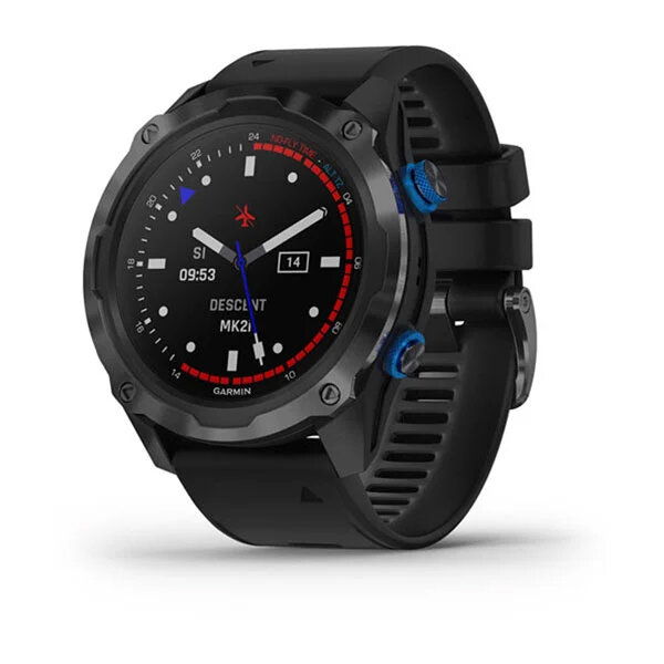 Garmin Descent™ Mk2i Titanium Carbon Grey DLC с черна каишка